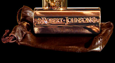 Robert Johnson Bronze Slide and Pouch Pic
